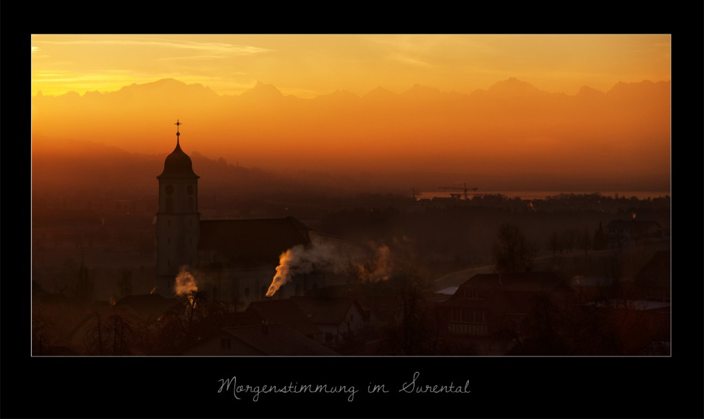 Morgenstimmung im Surental (Knutwil)