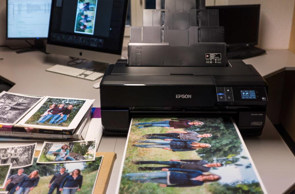 Fotoausdrucke mit Epson P 800 auf Fine Art  Papier